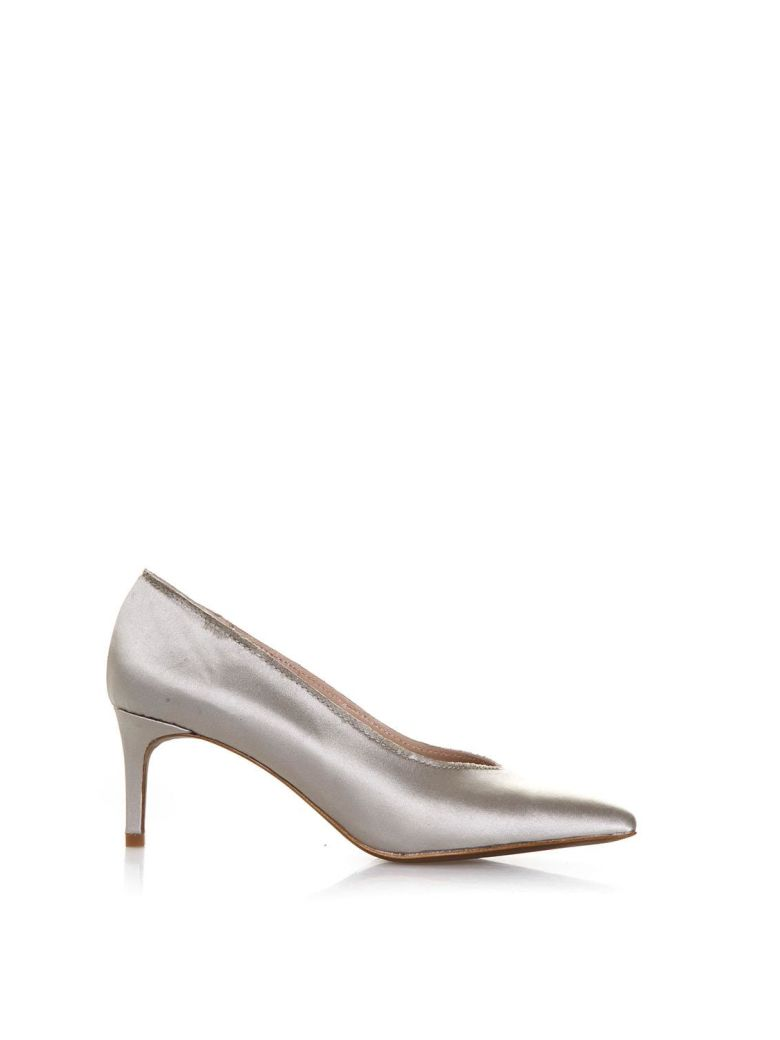 Lola Cruz Amapola Nude Satin Pumps - Nude