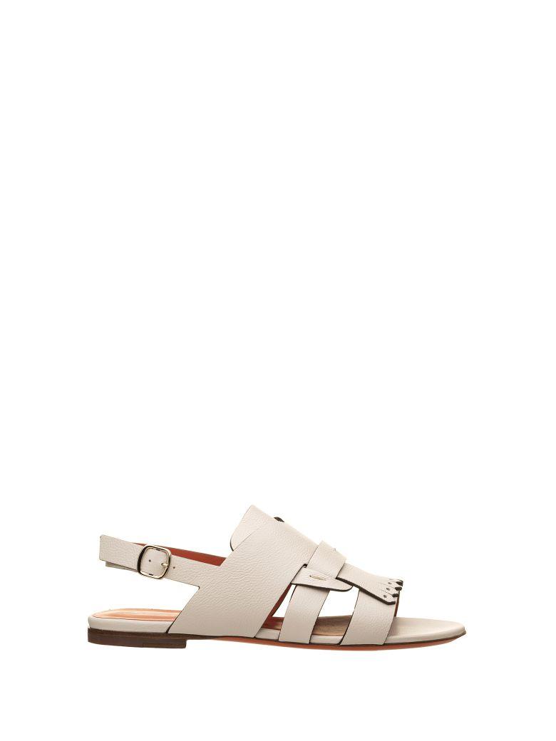 Santoni Santoni Flat Leather Sandals - PANNA