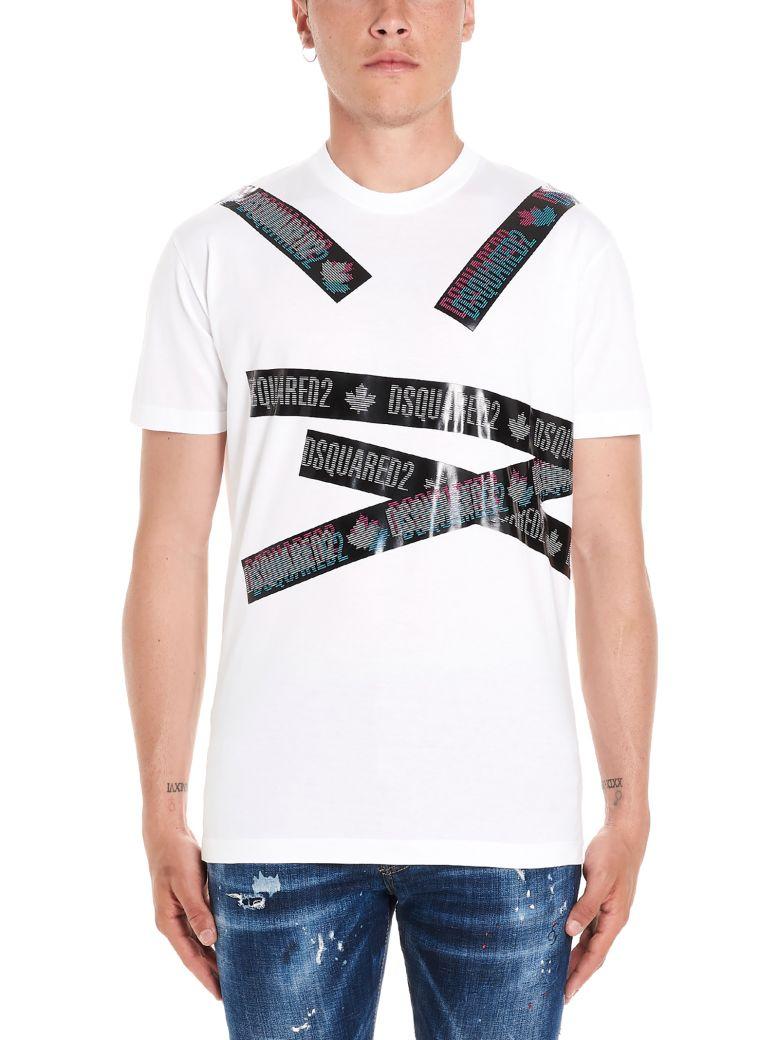 Dsquared2 'tape Logo' T-shirt - White