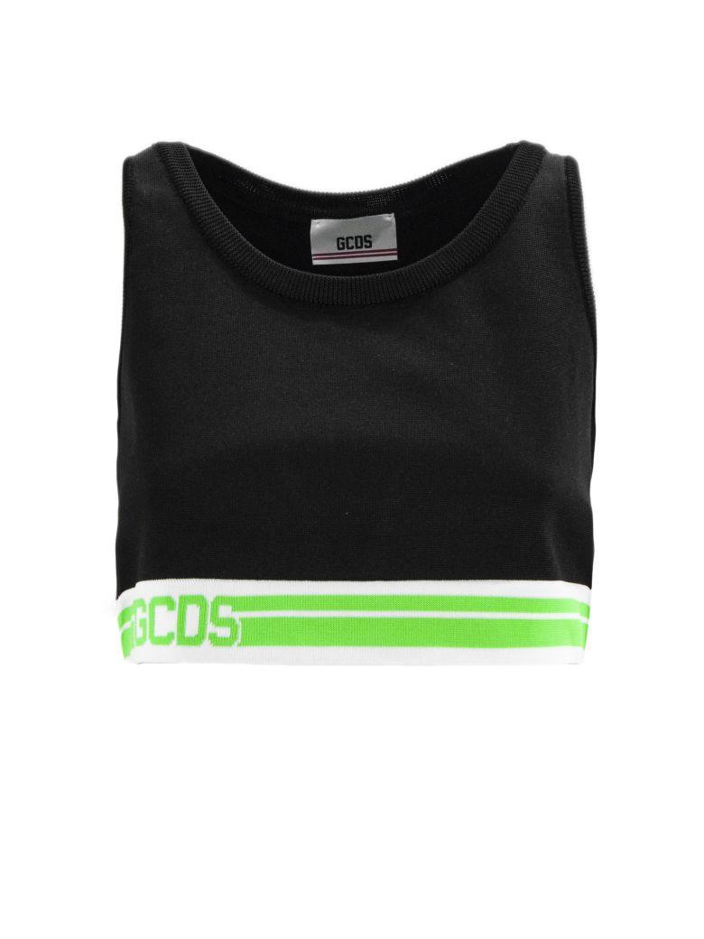 GCDS Black Fabric Top - Nero+verde