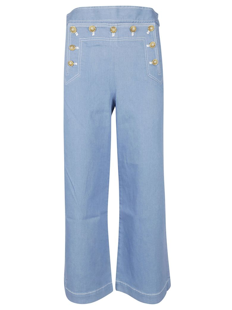 Tory Burch Wide Leg Jeans - Rinse wash