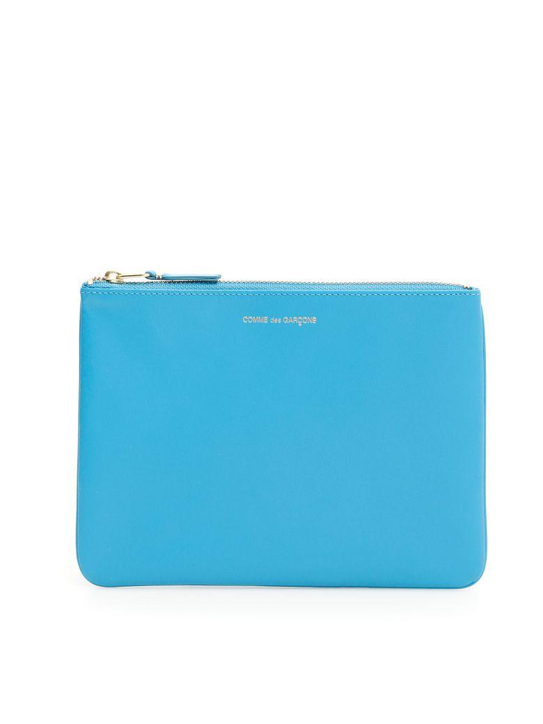 Comme des Garçons Wallet Unisex Classic Pouch - BLUE|Celeste