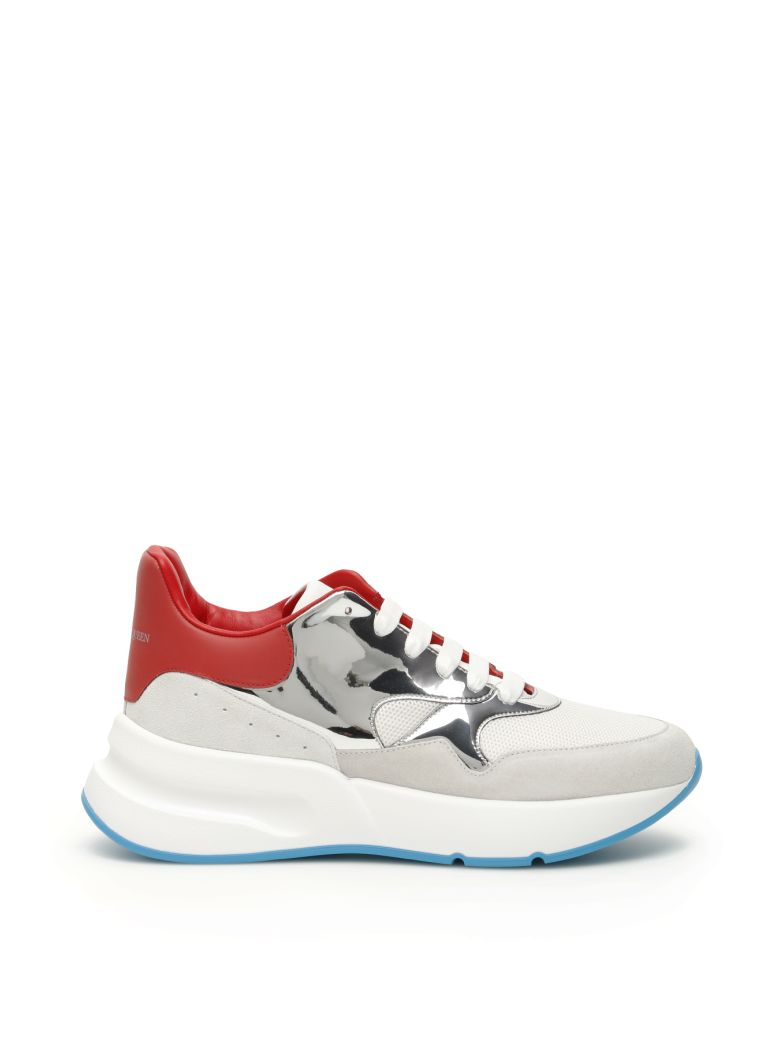 Alexander McQueen Oversize Running Sneakers - GREY PL WH LU RE O W (Red)