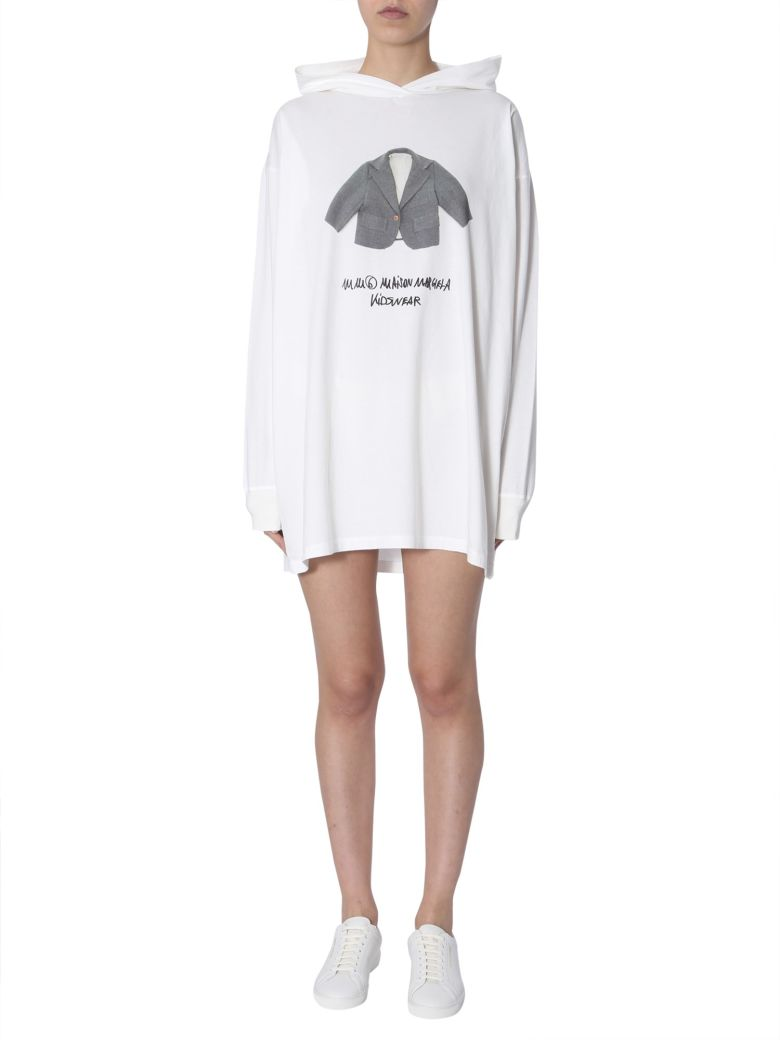MM6 Maison Margiela Hooded Sweatshirt - BIANCO