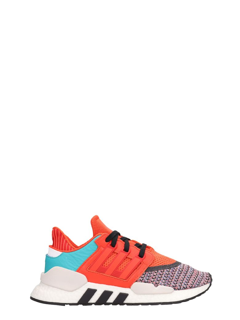 Adidas Orange-multi-colored Fabric And Rubber Eqt Support Sneakers - orange