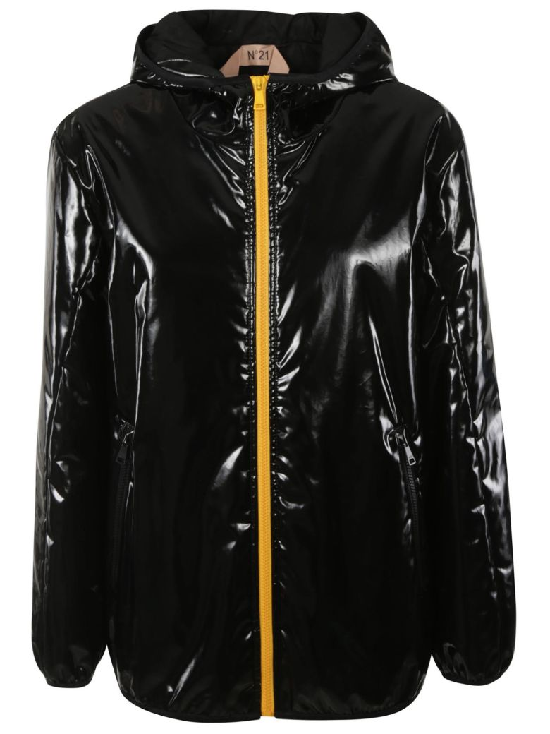 N.21 Woven Down Jacket - Black