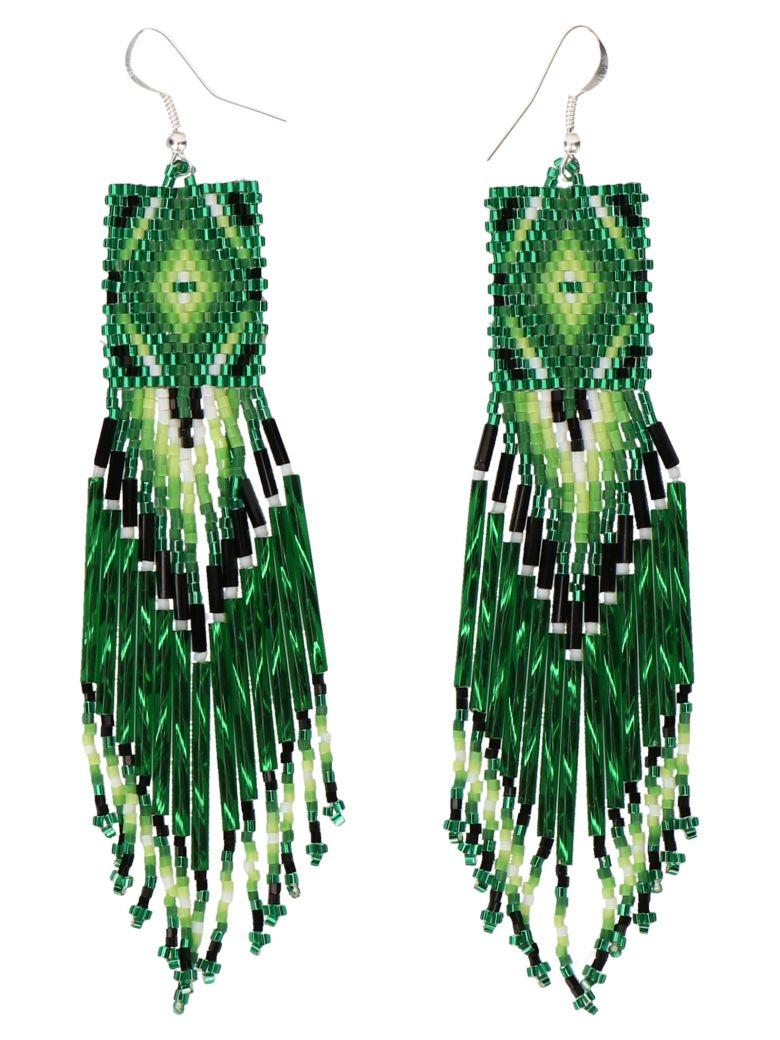 Jessie Western Earrings - Green