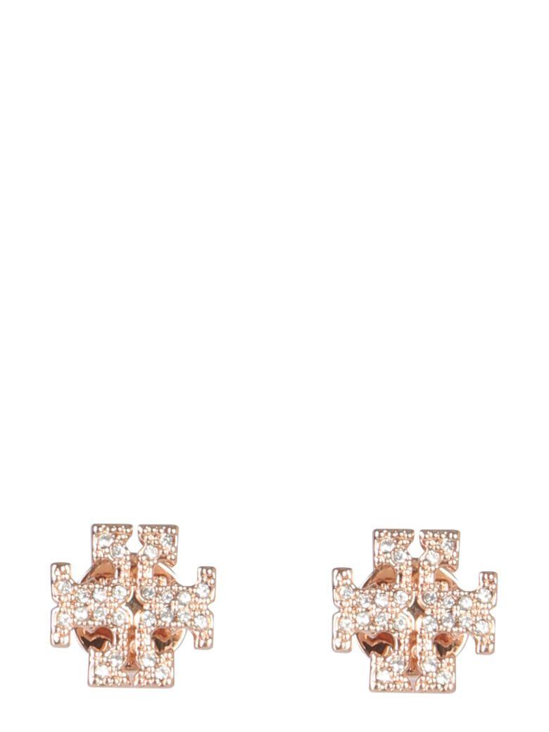 Tory Burch Earrings Crystal Logo - ROSA