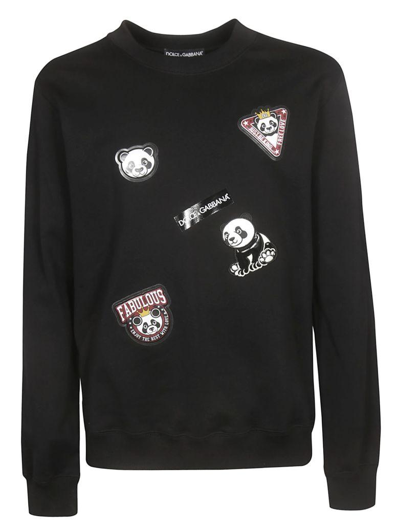 Dolce & Gabbana Panda Patched Sweatshirt - Black