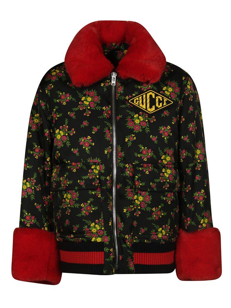 Gucci Floral Jacket - Bk/fuxia/yel prt/mul