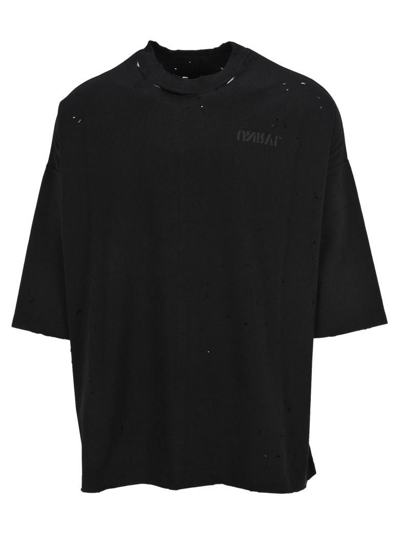 Ben Taverniti Unravel Project Unravel Tshirt Skull Back Oversized - Black