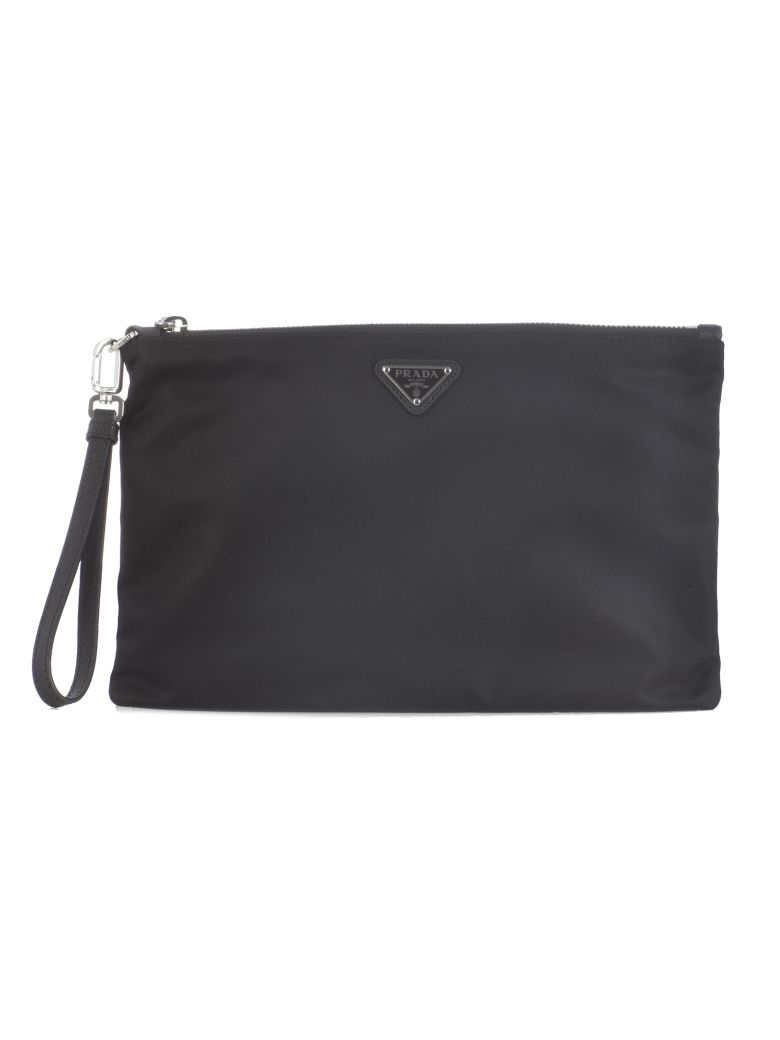 Prada Vela Clutch - Black