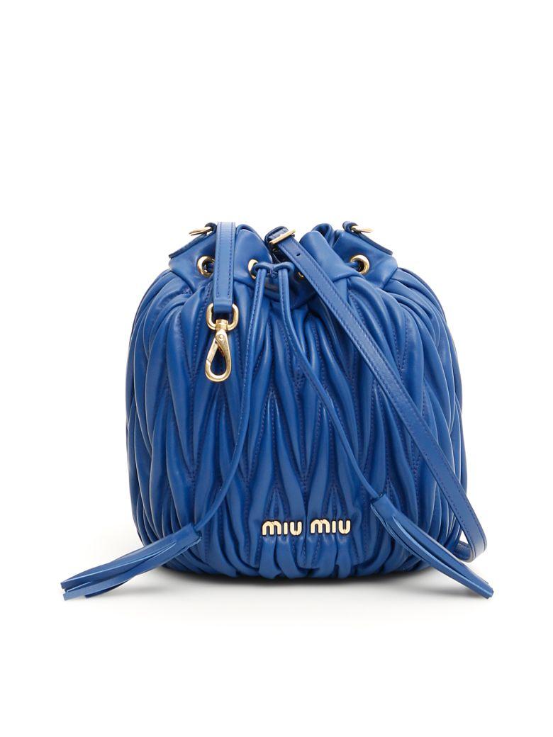 Miu Miu Quilted Bucket Bag - AZZURRO (Blue)