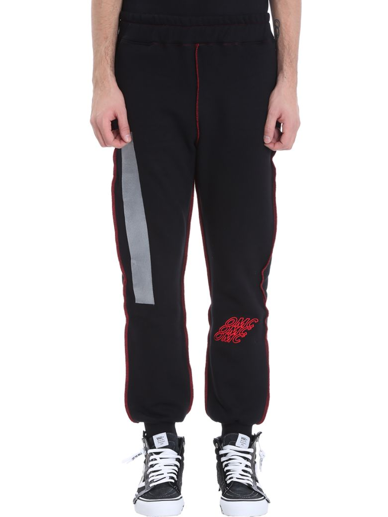 OMC Black Cotton Pants - black