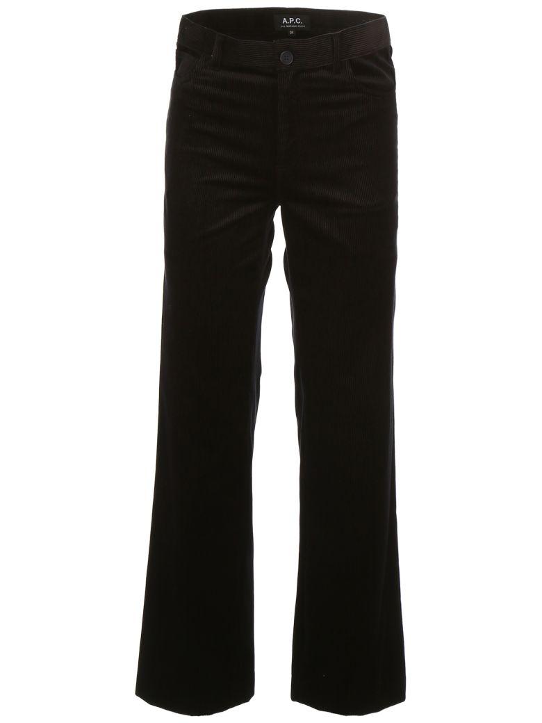 A.P.C. Corduroy Trousers - FAUX NOIR|Nero
