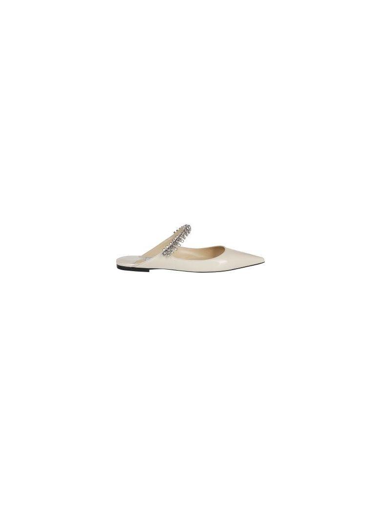 Jimmy Choo Bing Flat Mules - White