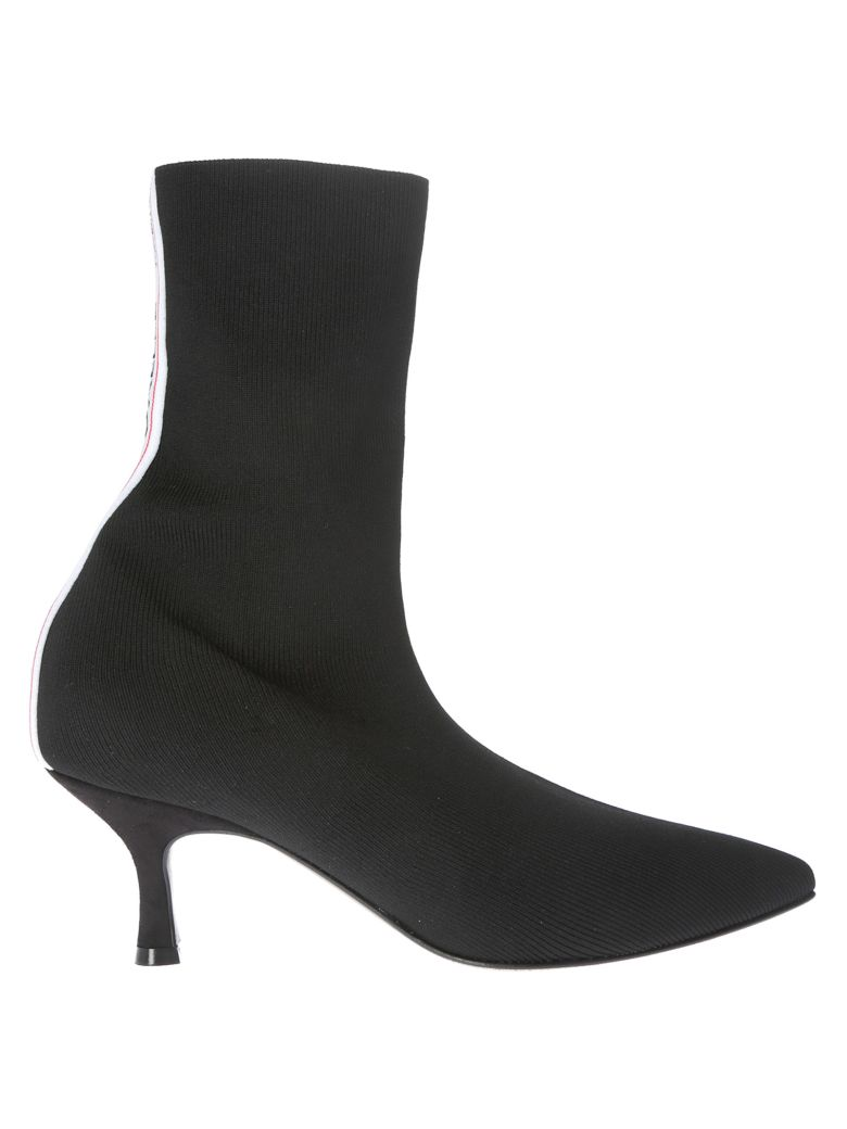 Gaelle Bonheur Logo Ankle Boots