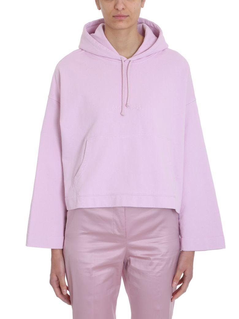 Acne Studios Pink Cotton Joghy Emboss Sweatshirt - rose-pink