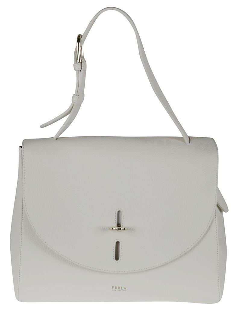 Furla Classic Flap Shoulder Bag - talc
