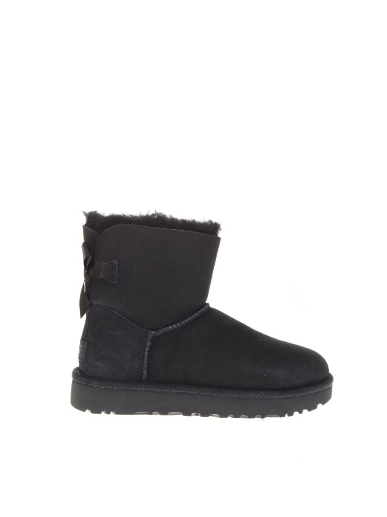 UGG Mini Bailey Boots With Bow Detail - Black