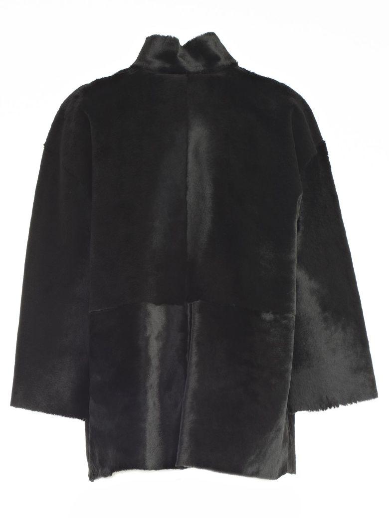 Desa 1972 Giubbotto M/l Collo Guro Pelo Rasato - Black