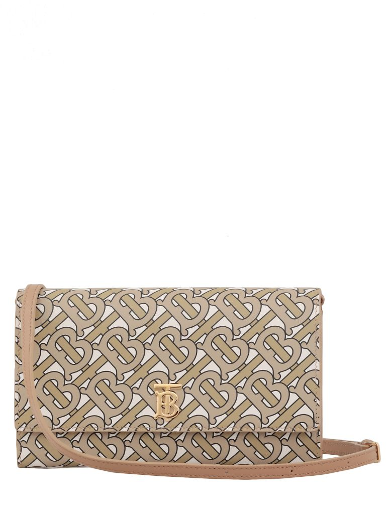 Burberry Leather Pouch - Beige