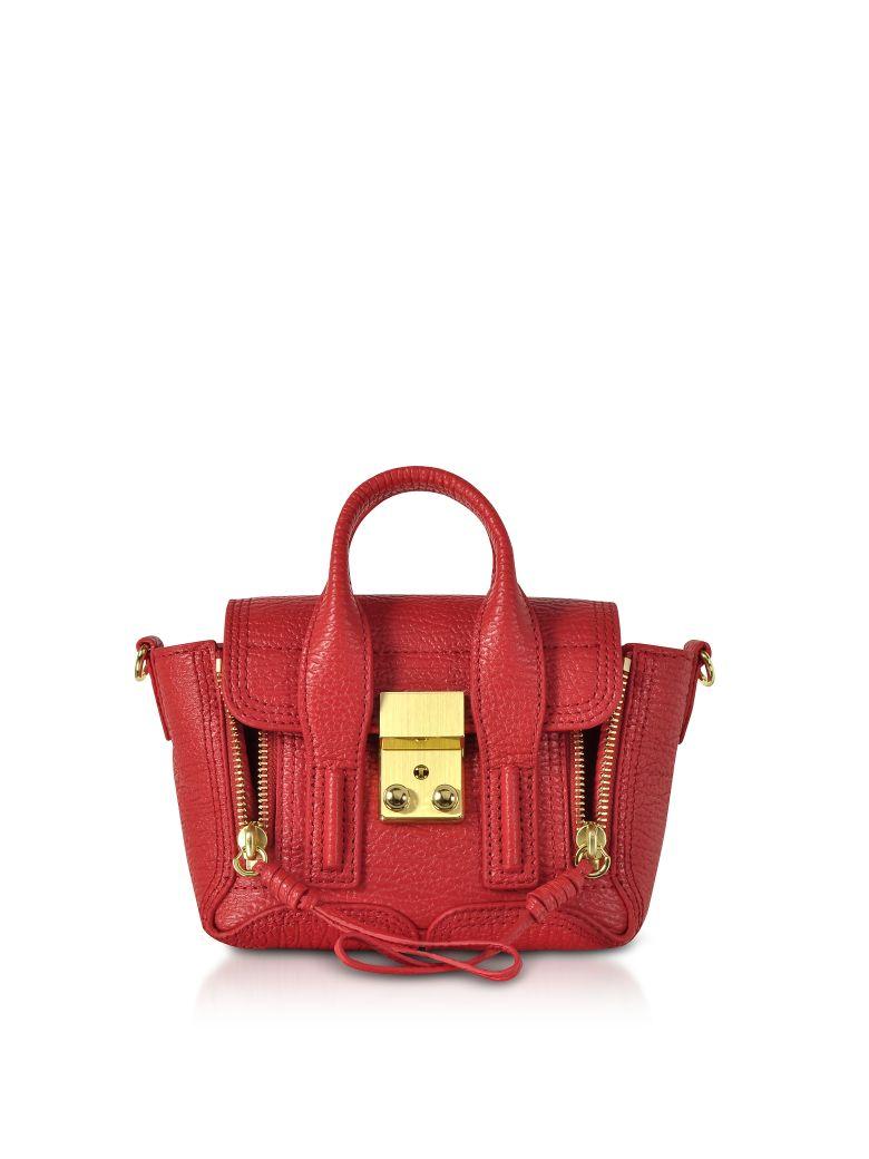 3.1 Phillip Lim Red Leather Pashli Nano Satchel Bag - Red