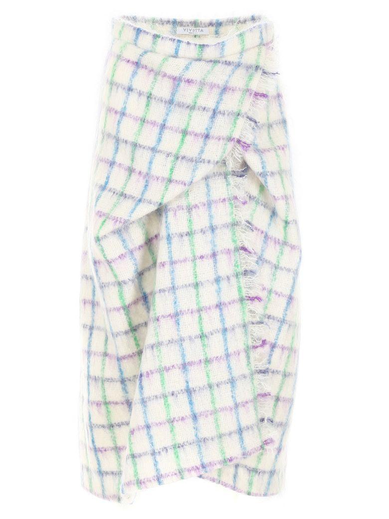 Vivetta Check Mohair Skirt - WHITE MULTI|Bianco