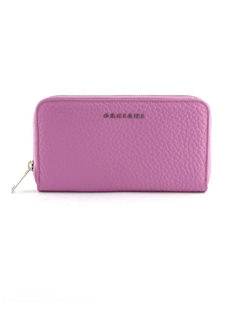 Orciani Fuchsia Leather Wallet - Fuxia