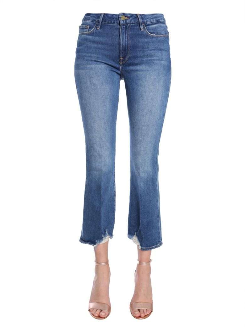 Frame Le Crop Mini Boot Jeans - DENIM