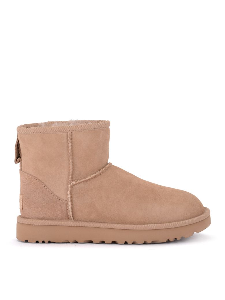 UGG Classic Ii Mini Suede Sheepskin Ankle Boots - Brown