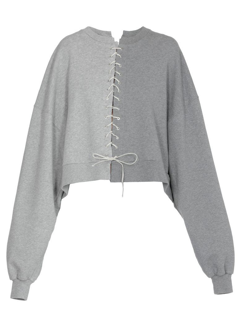 Ben Taverniti Unravel Project Terry Lace Up Sweatshirt - Basic