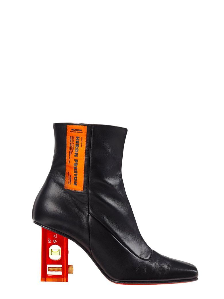 HERON PRESTON Level Bootie Leather - Nero/arancio