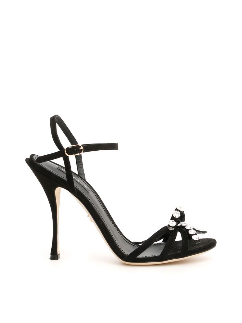 Dolce & Gabbana Keira Sandals With Crystals - NERO (Black)