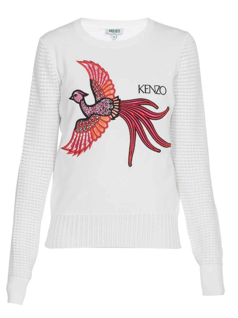 Kenzo Front Embroider Sweater - White