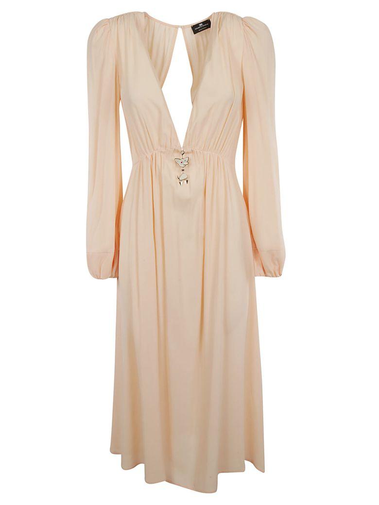 Elisabetta Franchi Celyn B. Elisabetta Franchi For Celyn B. V-neck Long Dress - Pink