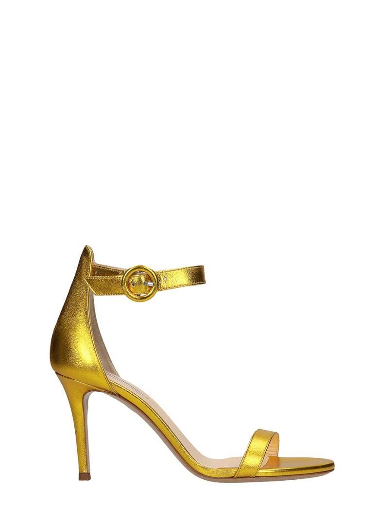Fabio Rusconi Sandals In Gold Leather - gold