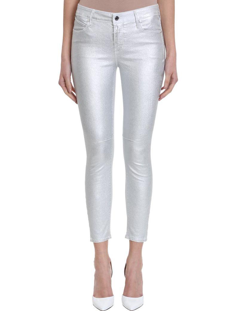 RTA Metallic Skinny Pants - Silver