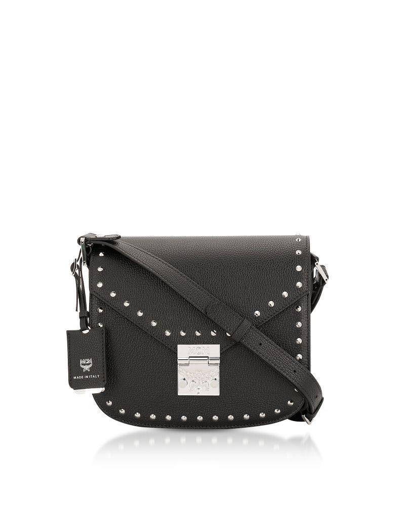 MCM Black Studded Outline Small Patricia Shoulder Bag - Black