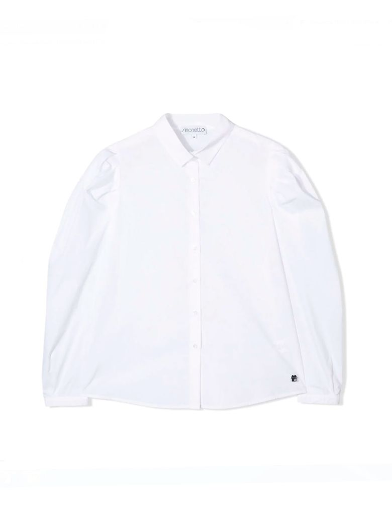 Simonetta Kids White Shirt - Bianca