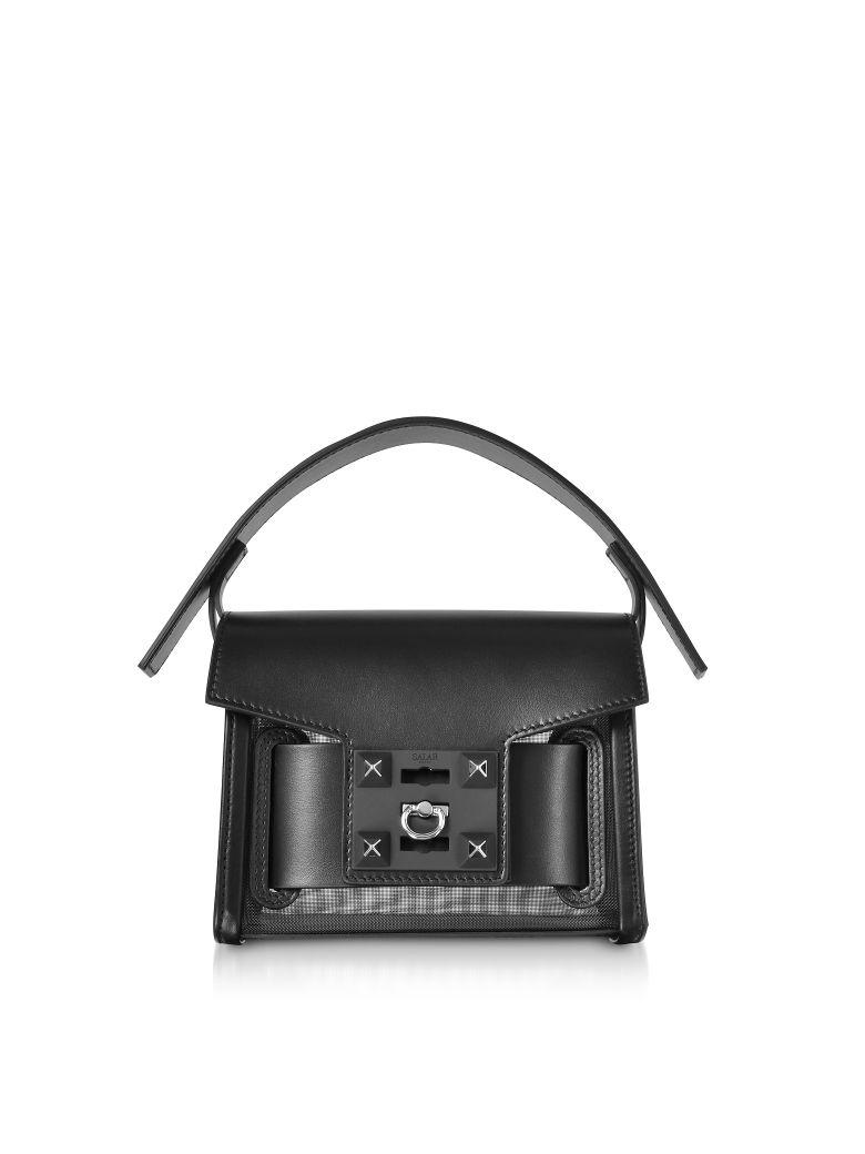 Salar Gaia Mesh Mini Crossbody Bag - Black