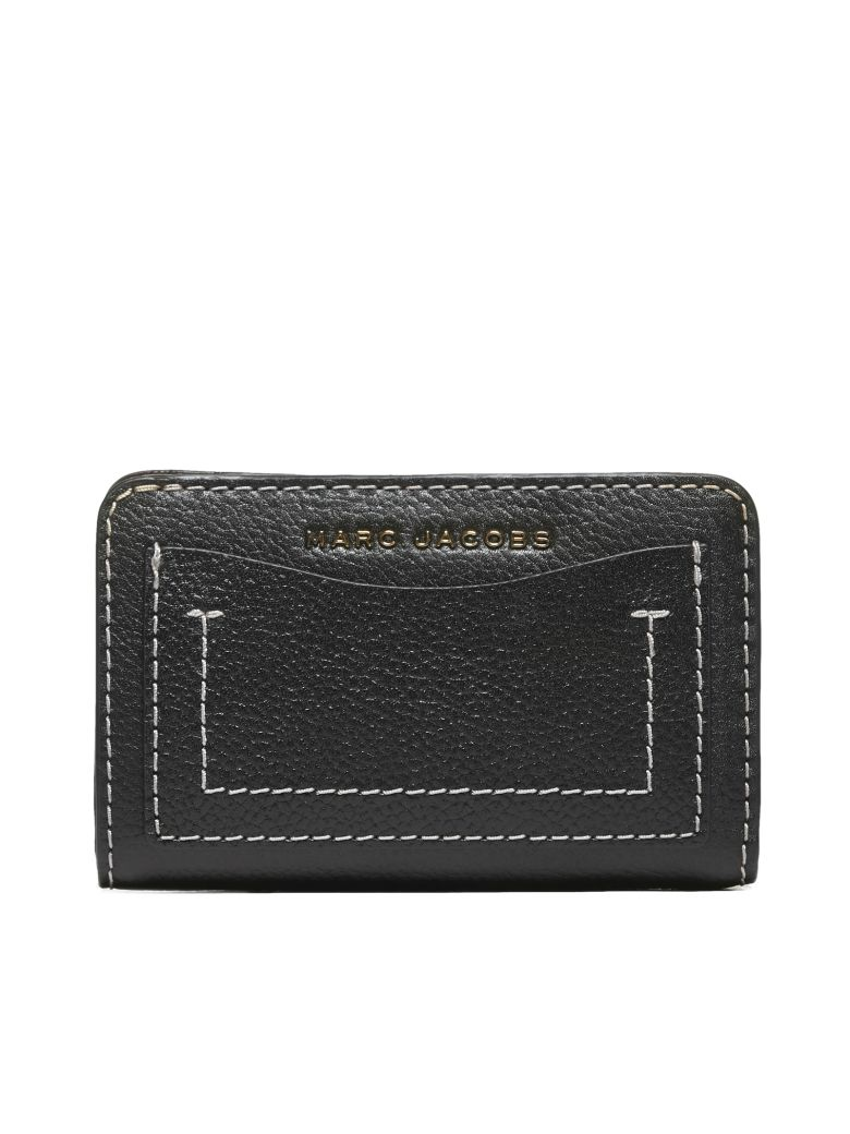 Marc Jacobs Compact Wallet - Nero bordeaux