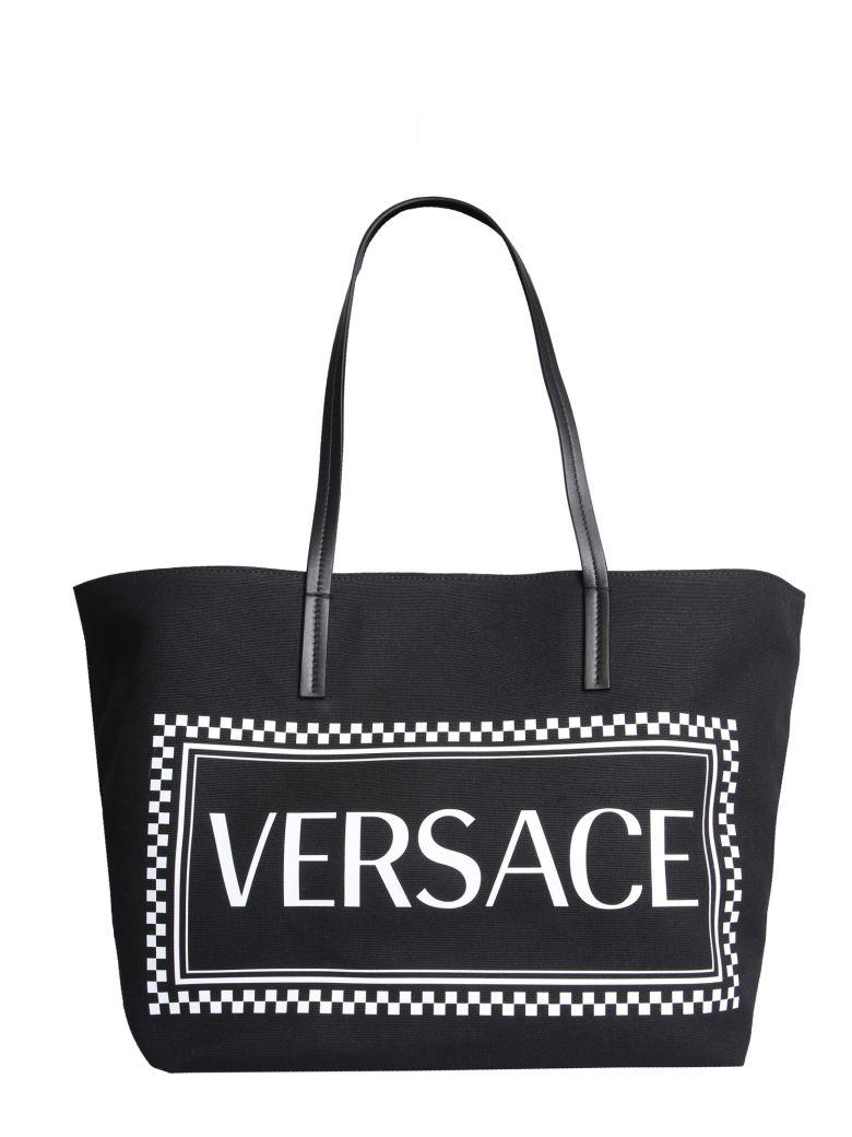 Versace Tote Bag With Logo - NERO