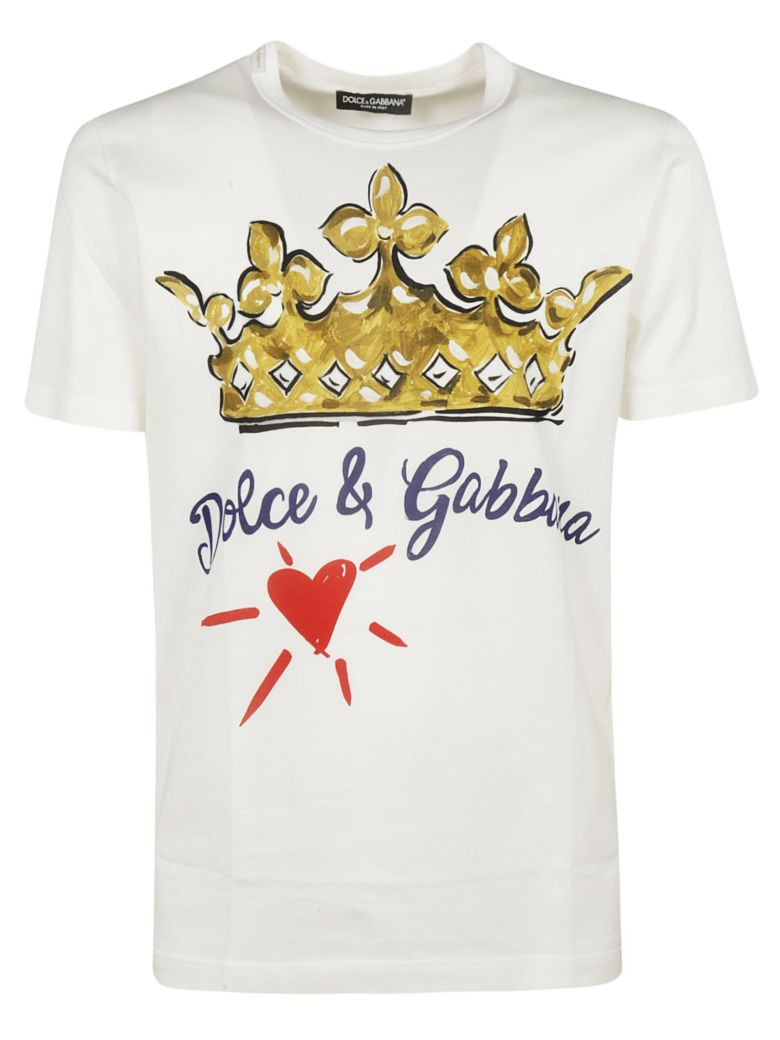 Dolce & Gabbana Crown Print T-shirt - White