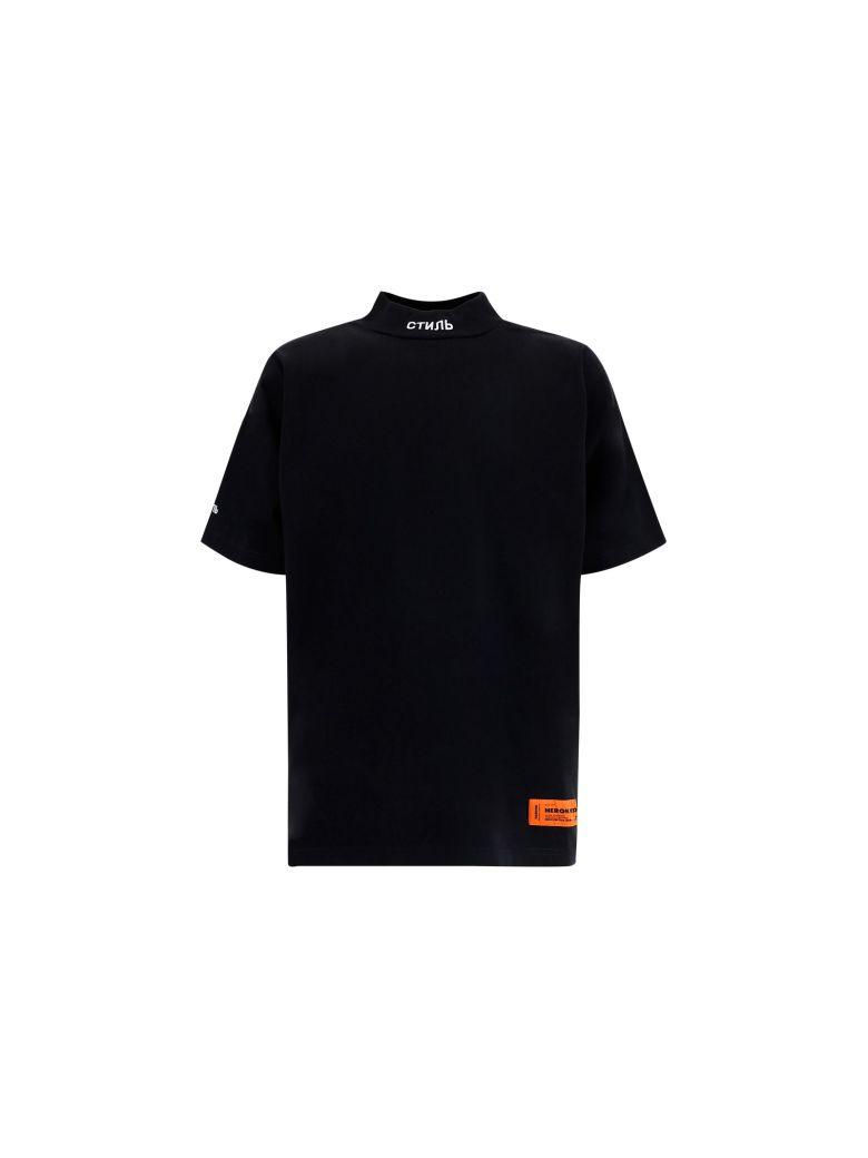 HERON PRESTON T-shirt - Black whit