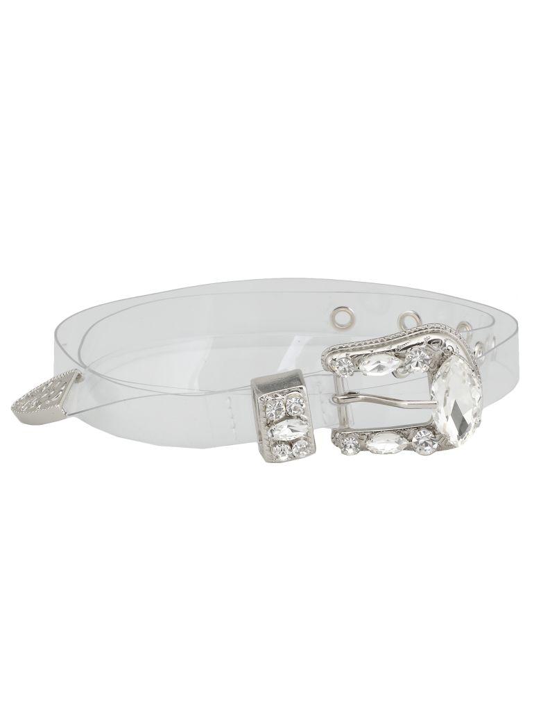 B-Low the Belt Vinyl Belt - CLEAR- SILVER