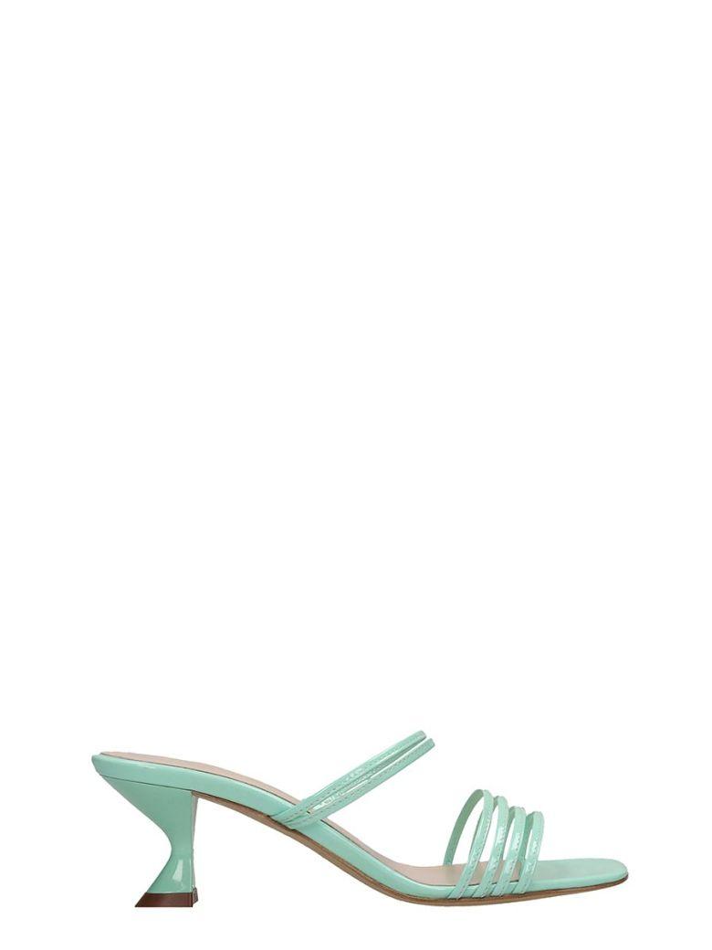 Kalda Simon Mini Sandals In Green Patent Leather - green