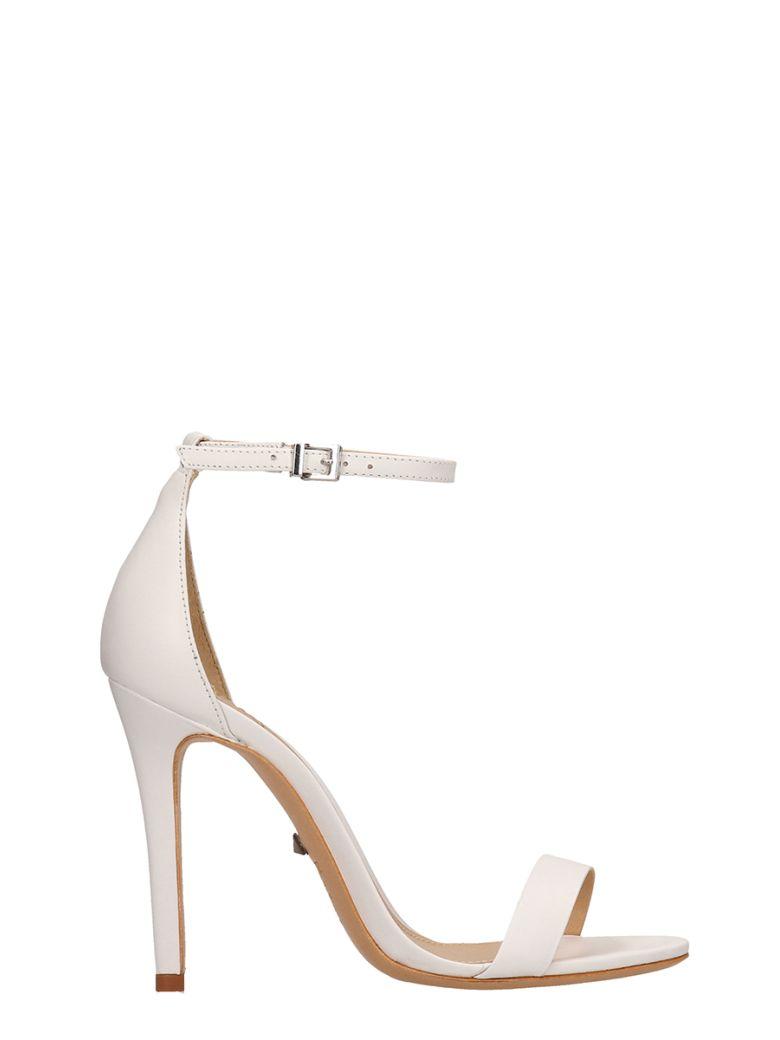 Schutz White Calf Leather Sandals - white