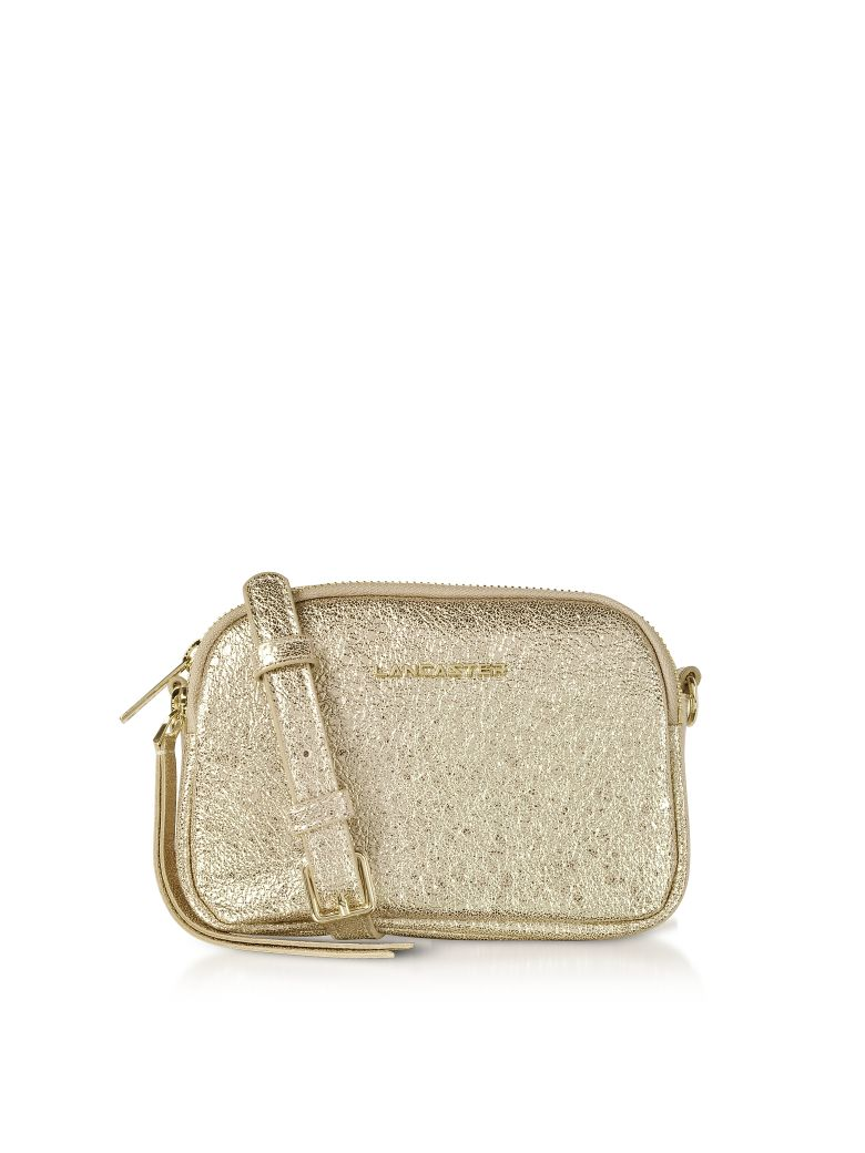 Lancaster Paris Actual Shiny Mini Crossbody Bag - Gold