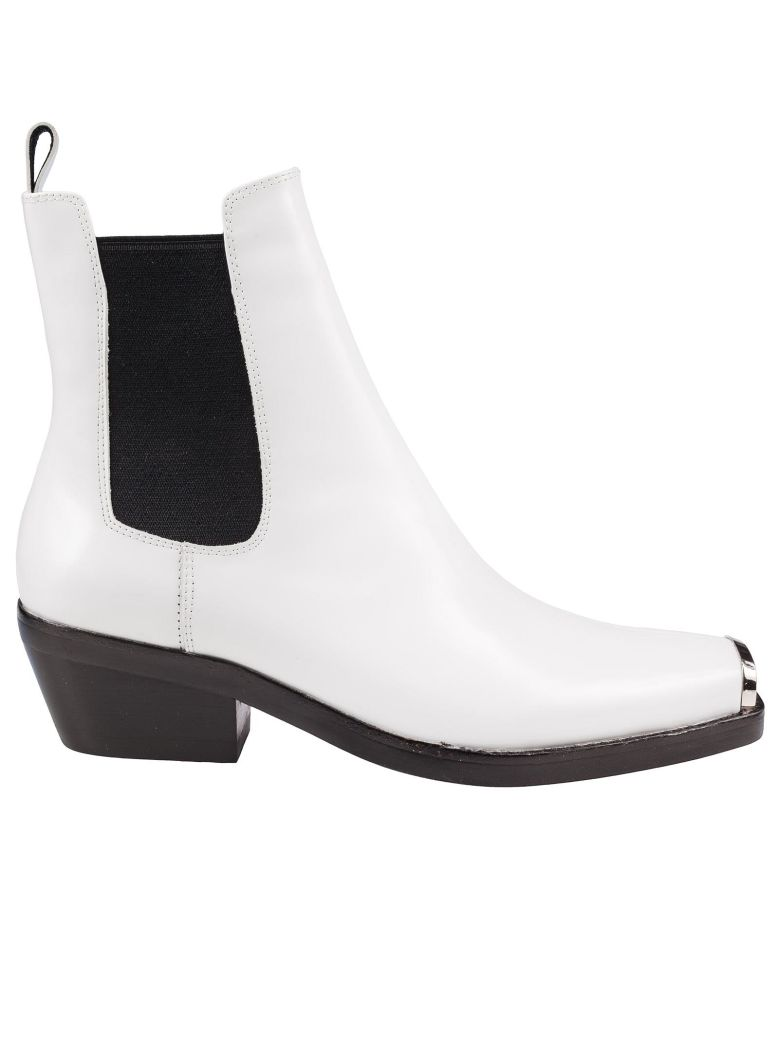 Jeffrey Campbell Poker Chelsea Boots - White